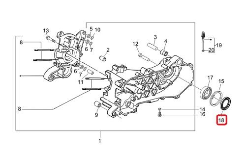 Schema Elettrico Liberty 125 : Joint spi d arbre de roue arrière piaggio