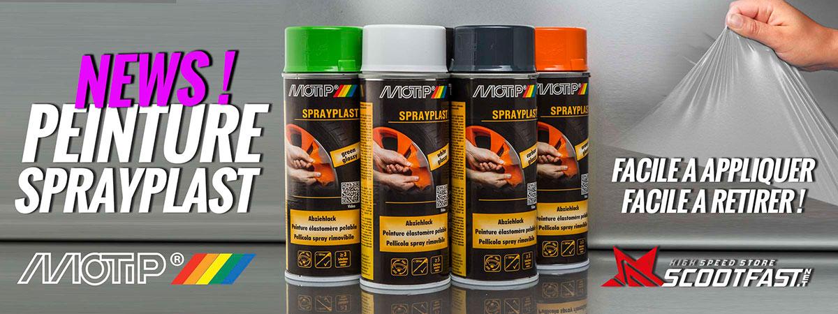 Image d'accueil de présentation des bombes de peinture Sprayplast Motip