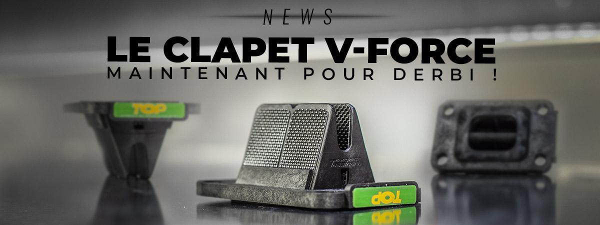 visuel de présentation du clapet V-Force Top Performances pour moteur Derbi et AM6