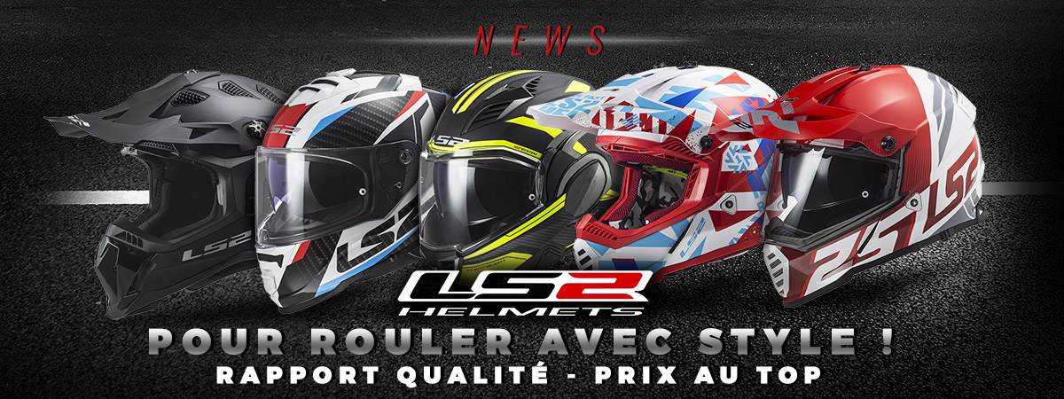 Image de présentation de la nouvelle gamme de casques motos LS2 chez scootfast