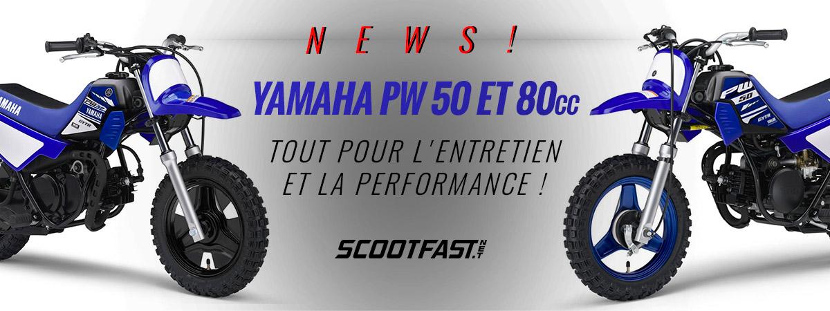 Image de promotion pour les pièces et accessoires pour les mini motos Yamaha PW50 et PW80