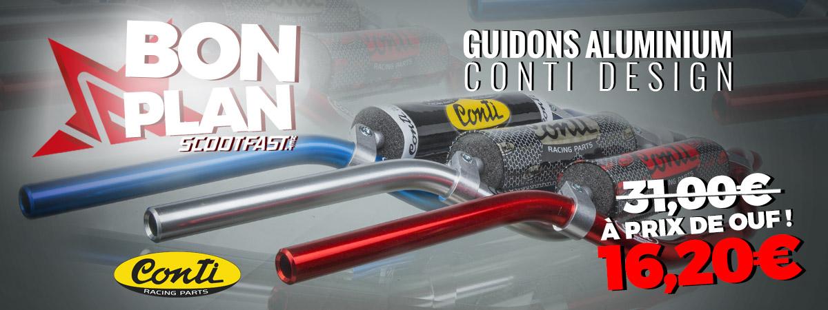 Image de présentation de la super promotion sur les guidons de moto de marque Conti design