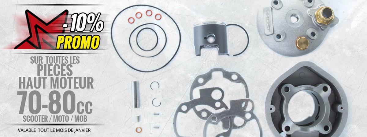 Image de présentation des pièces de haut moteur 70 - 80cc en promotion