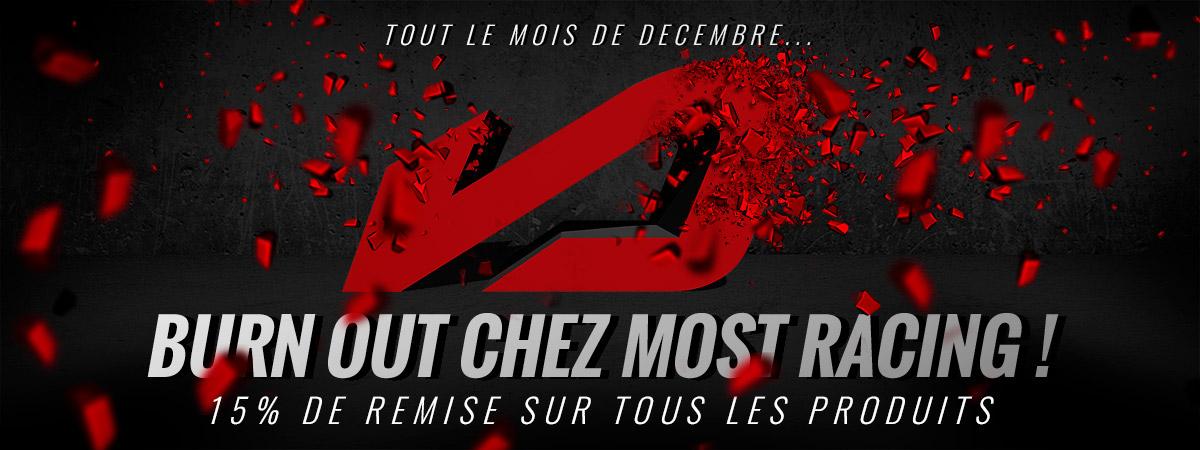 Image de présentation de la promotion sur la marque de pièces et accessoires Most Racing durant le mois de décembre 2019