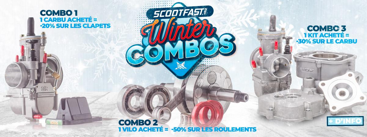 Visuel de présentation du Winter combo gagnant scootfast pour de grosses remises sur 3 combinaisons de pièces