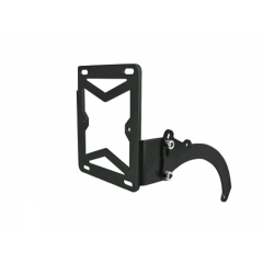 Support latéral de plaque d'immatriculation noir Peugeot Trekker et Speedfight