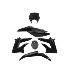 Kit carénage Derbi DRD après 2011 noir (6 pièces)