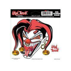 Autocollant Lethal Threat Evil Jester 15x14cm