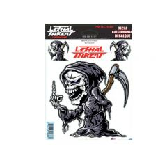 Autocollant Lethal Threat Reaper With Finger 15x20cm
