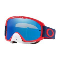 Masque Cross Oakley O Frame 2.0 MX rouge navy écran iridium
