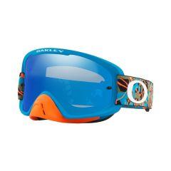Masque Cross Oakley O Frame 2.0 MX Camo Vine Jungle orange et bleu écran iridium et transparent
