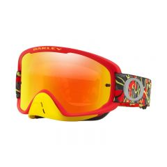 Masque Cross Oakley O Frame 2.0 MX Camo Vine rouge et jaune écran iridium et transparent