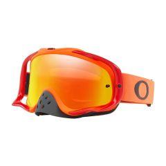 Masque Cross Oakley MX Crowbar orange et rouge écran iridium et transparent