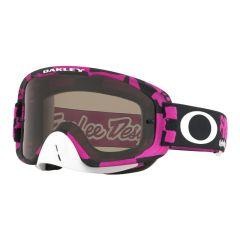 Masque Cross Oakley O Frame 2.0 MX Troy Lee Designs Race Shop rose écran fumé