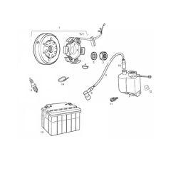 Eclaté moteur - Allumage Derbi Euro 3
