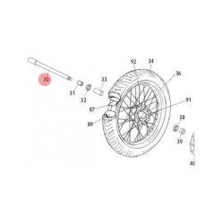 Axe de roue avant Rieju MRT jante à rayons