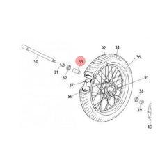 Bague de roue avant Rieju MRT jante à rayons