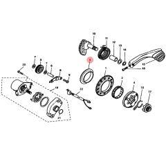 Bague et rondelle roue libre de démarreur MBK Nitro