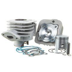 Kit cylindre 50cc Barikit Alu MBK Booster et Yamaha Bw's avec culasse