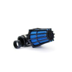 Filtre à air Carenzi Ø28-35 90° Noir et Bleu