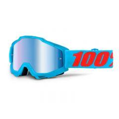 Masque cross 100% Accuri Acidulous Cyan Miroir Bleu