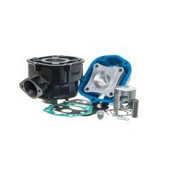 Kit cylindre 50cc Watts fonte Derbi Euro 3 et 4 avec sa culasse bleue