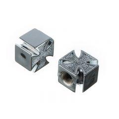 Bouchon de valve WTP Schrader croix argent