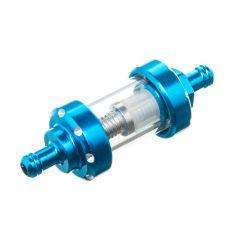 Filtre à essence transparent / bleu 6mm (cylindrique)