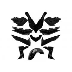 Kit carénage 11 pièces Type Origine Yamaha XMAX 2014 à 2017 Noir Brillant