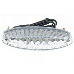 Feu arrière universel ovale à LED transparent
