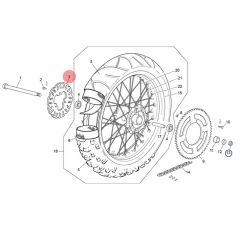 Disque de frein arrière Wave origine Sherco 50cc après 2014