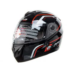 Casque intégral Doppler rouge taille XS
