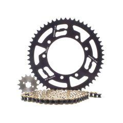 Kit chaîne Doppler Derbi Senda Xrace / Xtreme 14X53 couronne noir