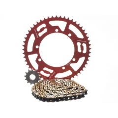 Kit chaîne Doppler Sherco 13x53 428 diam. 110mm rouge