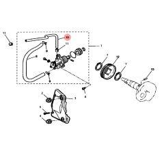 Durite d'huile pompe - carburateur MBK Nitro