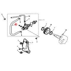 Durite d'huile pompe - réservoir MBK Nitro