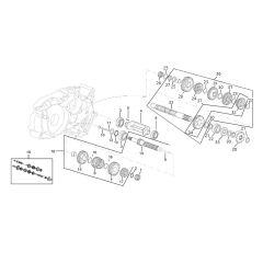 Eclaté moteur - Boite de vitesse Minarelli AM6