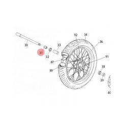 Entretoise de roue avant Rieju MRT jante à rayons