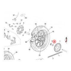 Entretoise gauche de roue arrière Rieju MRT bras en acier