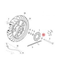 Entretoise gauche de roue arrière Rieju MRT bras en aluminium