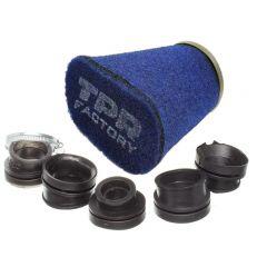 Filtre à air Top Performances Factory diam. 28mm à 43mm bleu