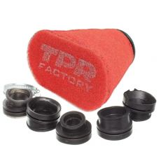 Filtre à air Top Performances Factory diam. 28mm à 43mm rouge