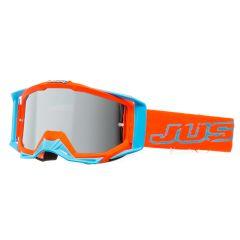 Masque cross Just1 Iris Neon orange et bleu