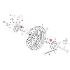 Joint spi de roue arrière Rieju MRT 22x35x7