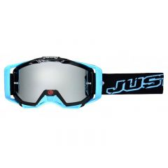 Masque cross Just1 Iris Neon noir et bleu