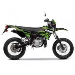 Kit déco Kutvek Yamaha DT50 Predator Noir et Vert