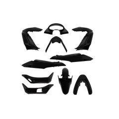 Kit carénage 11 pièces Honda PCX 125cc 10-13 noir brillant