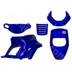 Kit carénage bleu métal 5 pièces MBK Booster avant 2004