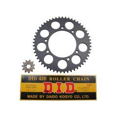 Kit chaîne 420 53x11 DID Aprilia RX et SX 2006-2011