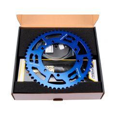 Kit chaîne Doppler Sherco 428 13x53 bleu